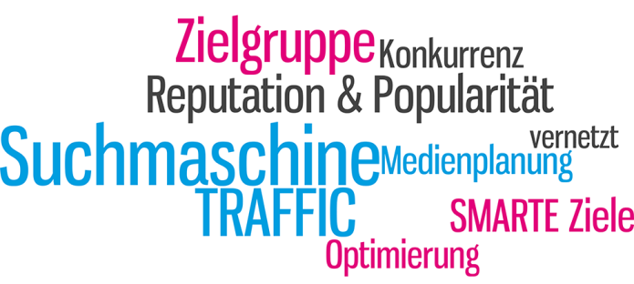 Isabella Andric - Blogbeitrag zu Web- und Trafficmanagement, first steps - Suchmaschine - Ziele - Optimierung - Reputation - Popularität - Tag Cloud