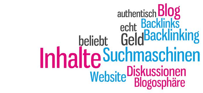 Isabella Andric - Blogbeitrag zu Backlinking, Blogs, Blogosphäre - Suchmaschinen - Website - Inhalte - Tag Cloud
