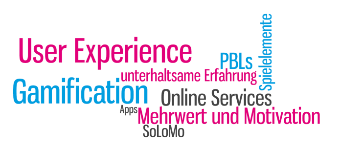 Blogbeitrag von Isabella Andric - Was ist Gamification: User Experience, Mehrwert, Motivation, PBLs, Spielelemente - Tag Cloud