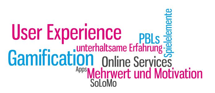 Blogbeitrag von Isabella Andric - Was ist Gamification: User Experience, Mehrwert, Motivation, PBLs, Spielelemente - Tag Cloud